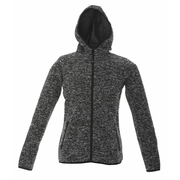 Quebec Lady JRC kudottu fleece Black