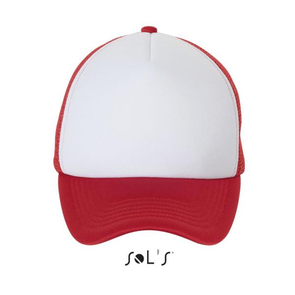 bubble verkkolippis 516 white-red